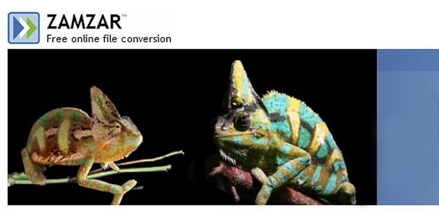 Convertor online Zamzar